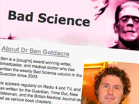 "Web Ben Goldrace ""Bad Science"""