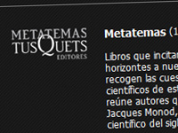 Web de l'editorial Tusquets (Metatemas)