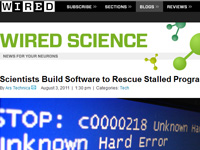 Web de Wired Science
